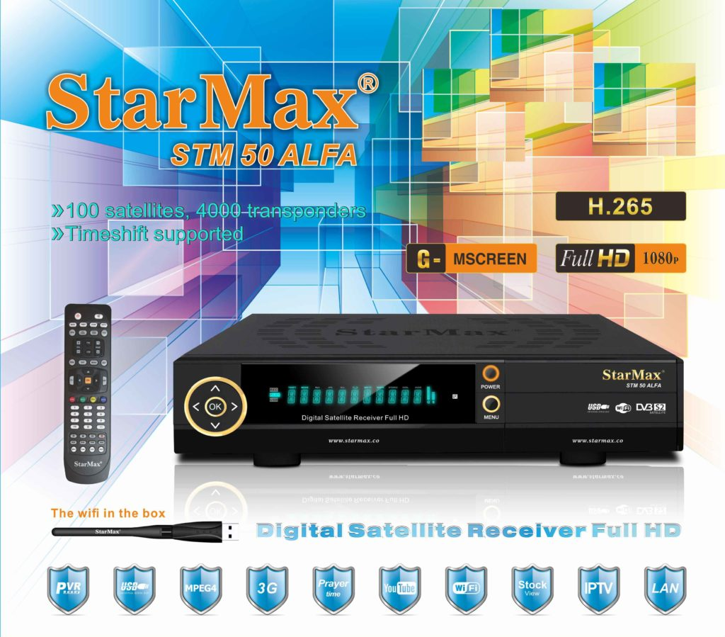 StarMax STM 50 ALFA Full HD Receiver New Software - All Receiver