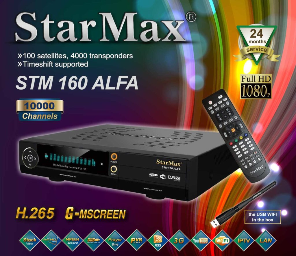 StarMax STM 160 ALFA Full HD Receiver New Software - All Receiver