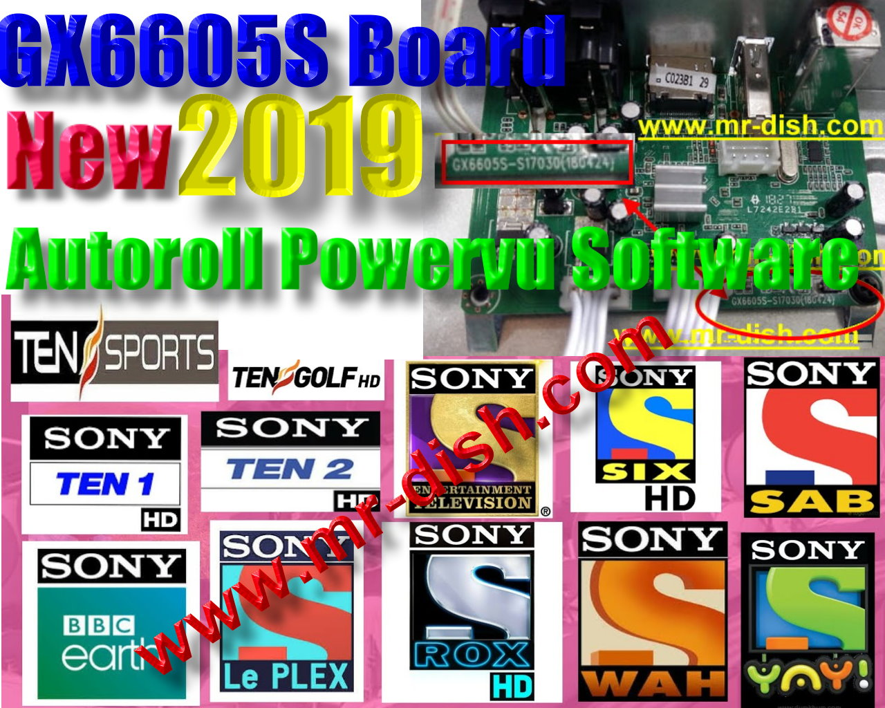 GX6605S BOARD 666 CODE All Version New Autoroll Powervu Software