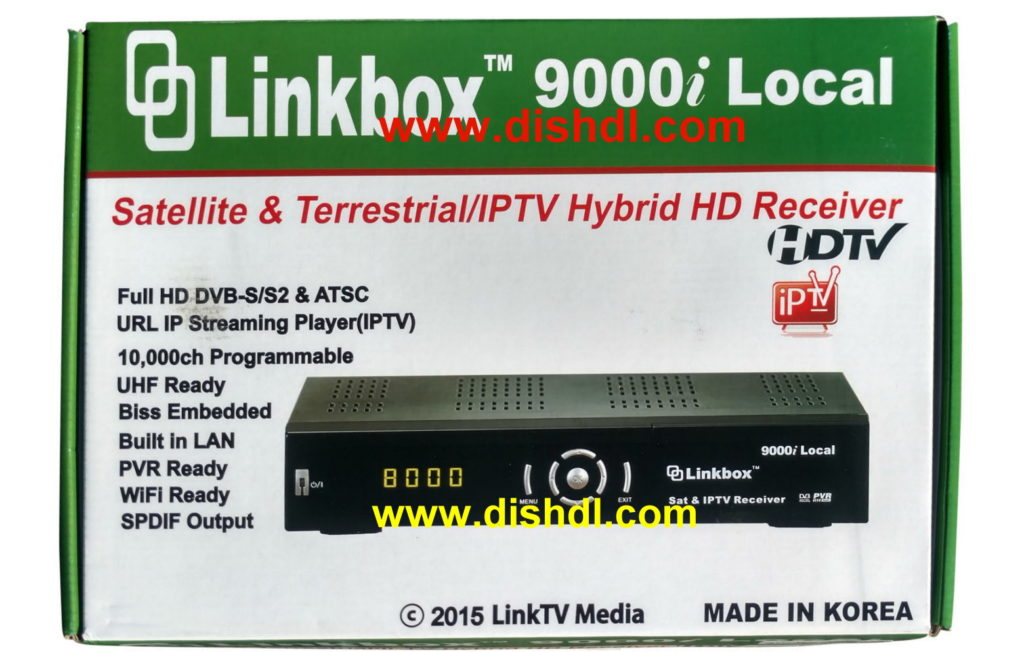 Linkbox 9000i Local Satellite and IPTV Receiver Software