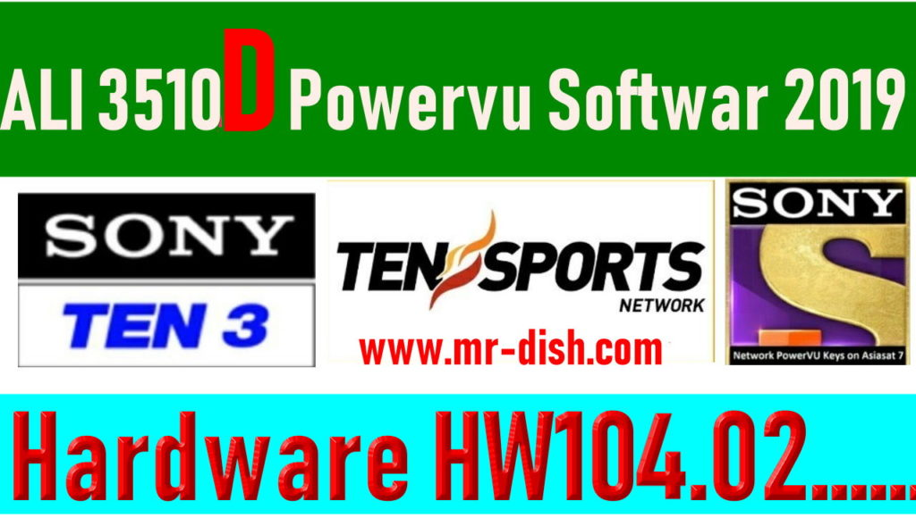 ALI3510D All Model New Autoroll Powervu Software 2019 - All Receiver